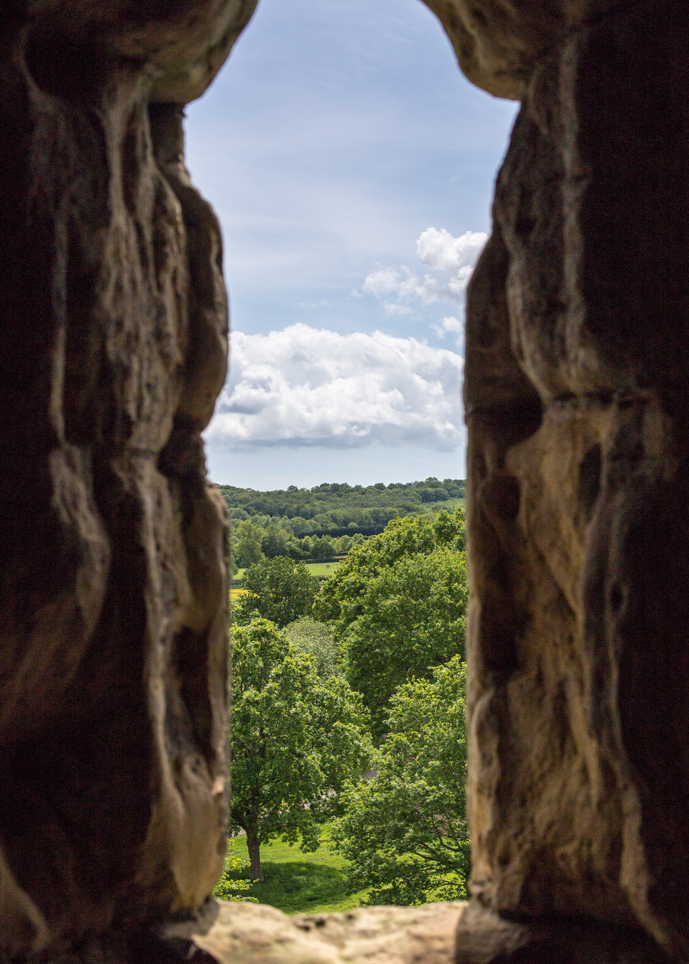 From inside the castle, there are great views over the surrounding countryside.