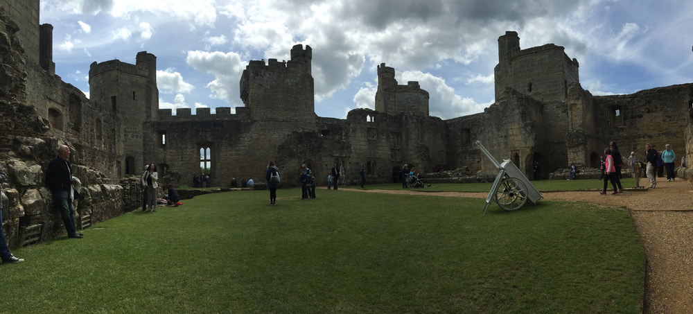 Pano of the interior of Bodiam Castle.