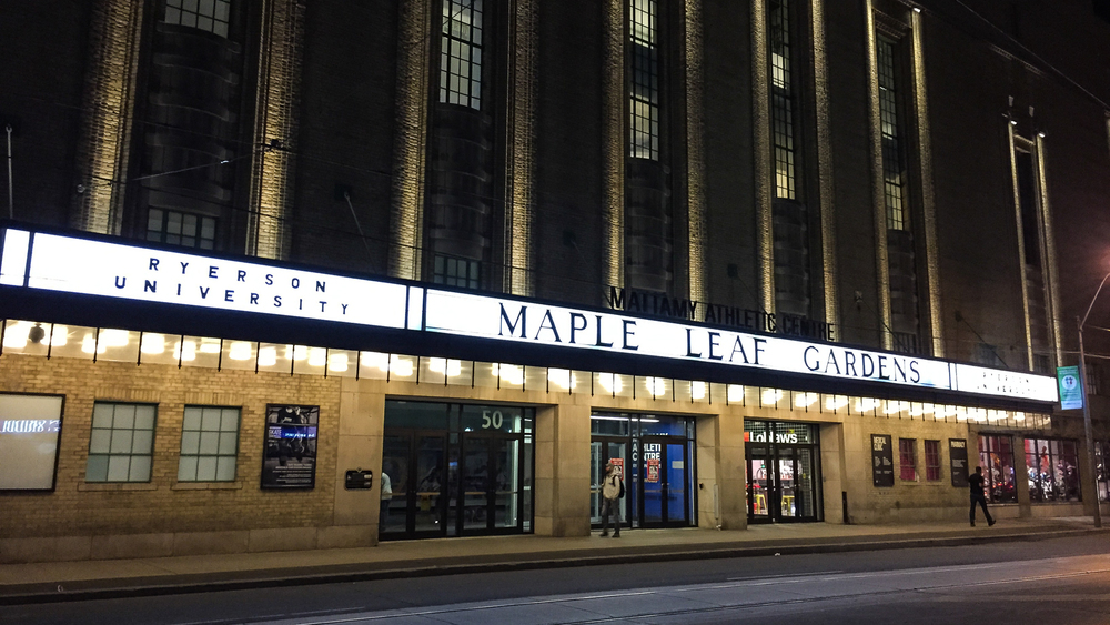 Ryerson now has Maple Leaf Gardens - where was this when I was going there?