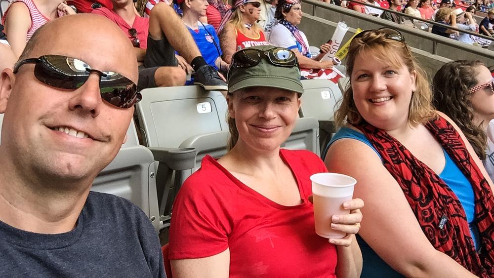 Warren, Justine and Katie
