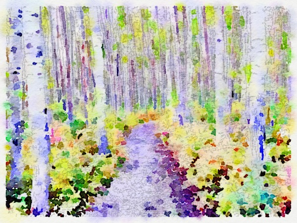 A Waterlogue version of one of my photos from Charlie Lake, given that there wasn't much to see on the drive.