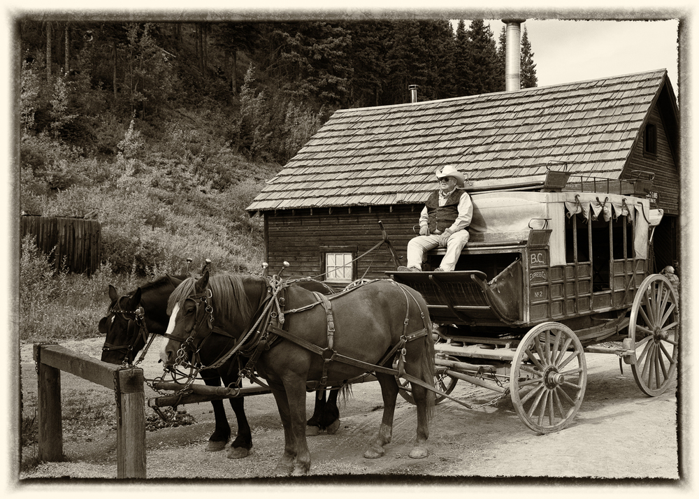 Having a little fun with some of the images from the day at Barkerville.