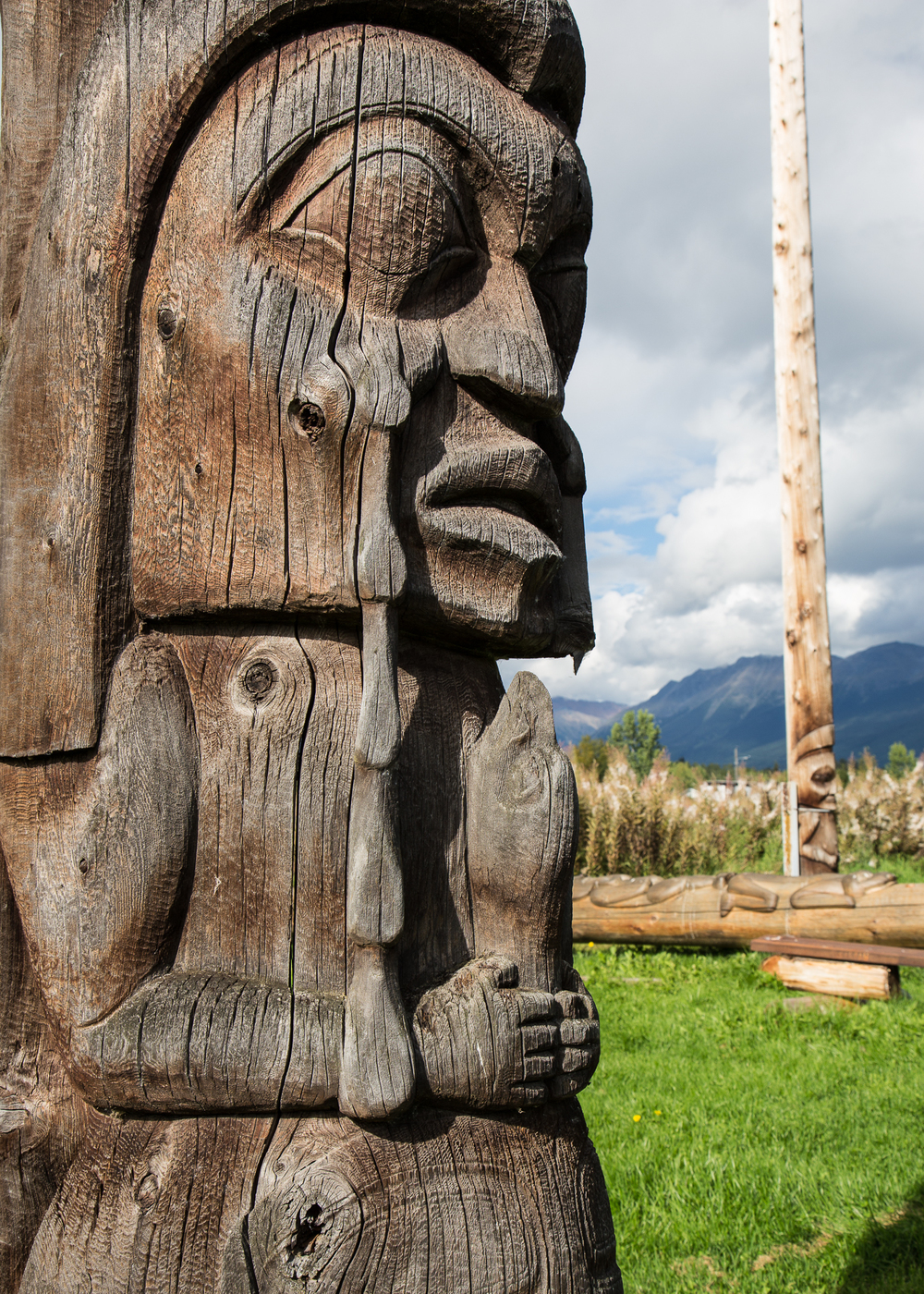 The carvings on the totem poles were pretty amazing.