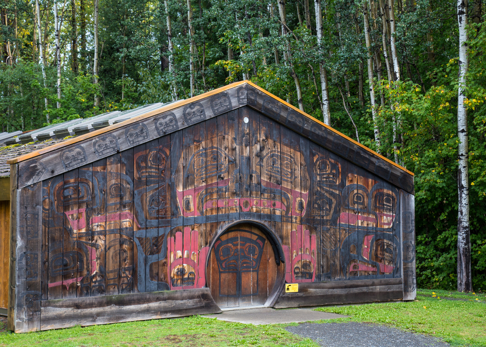 The Visitor Center at Anhluut'ukwsim Laxmihl Angwinga'asanskwhl Nisga'a (a.k.a. Nisga'a Memorial Lava Bed Park)