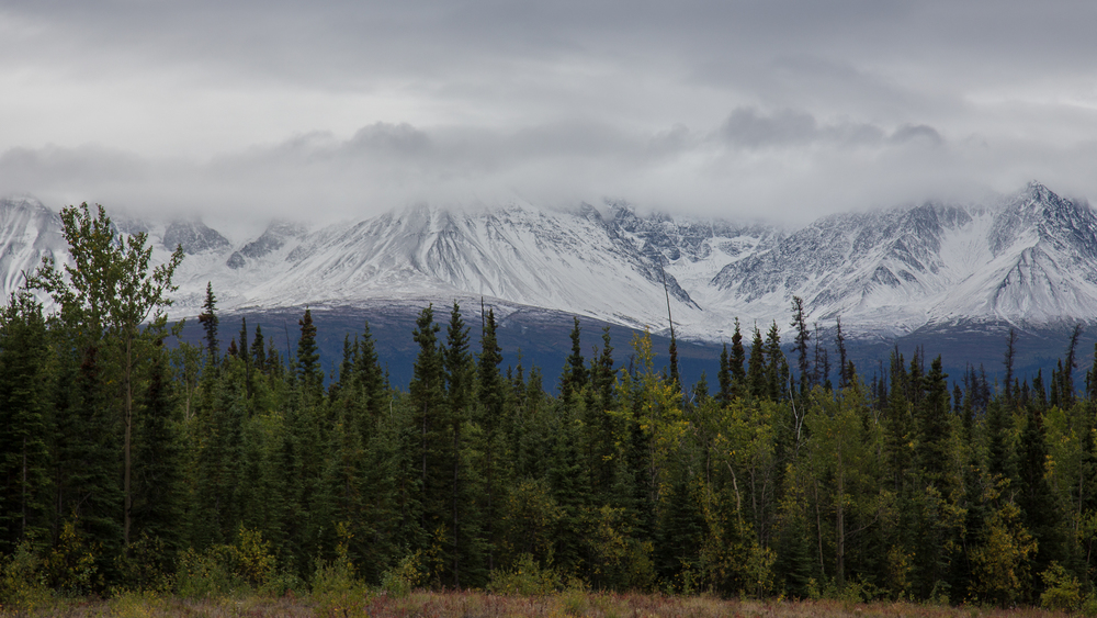 Snowy mountains - it was still only August!