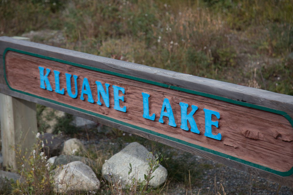 kluane lake sign