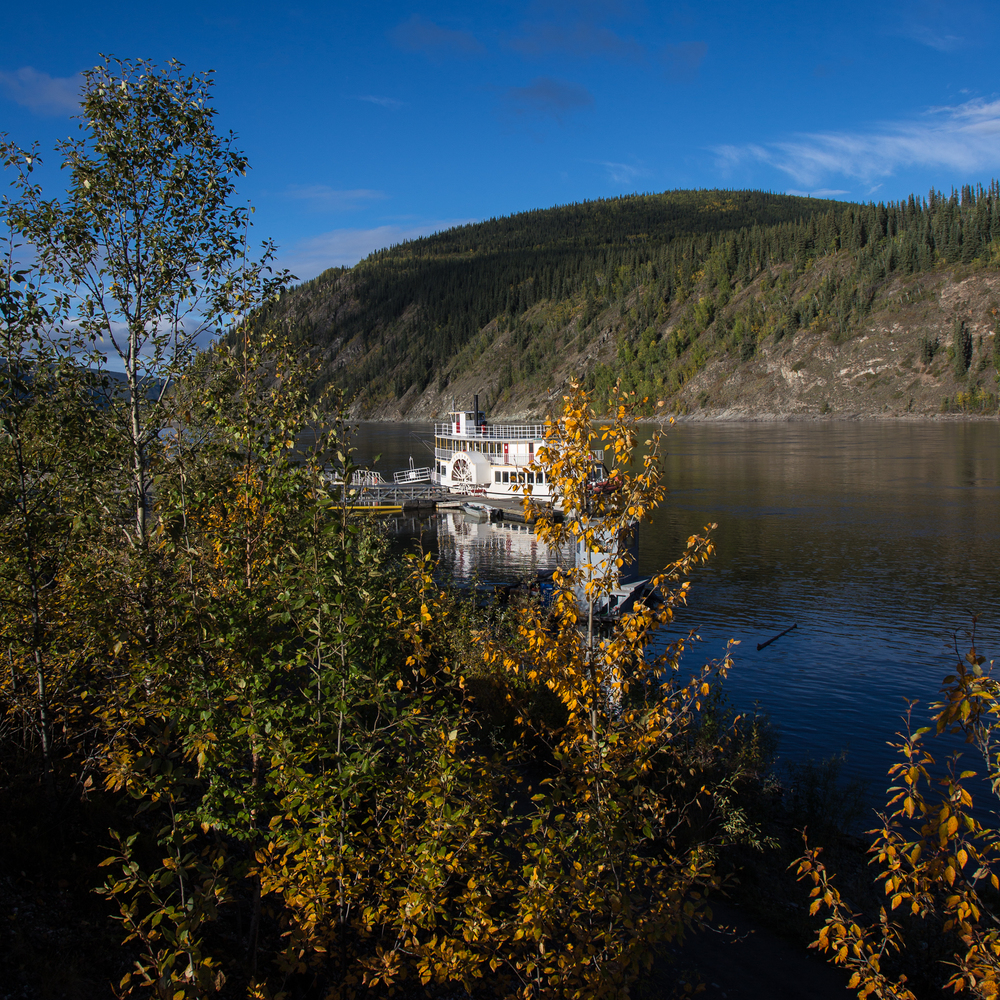Paddlewheeler on the Yukon River