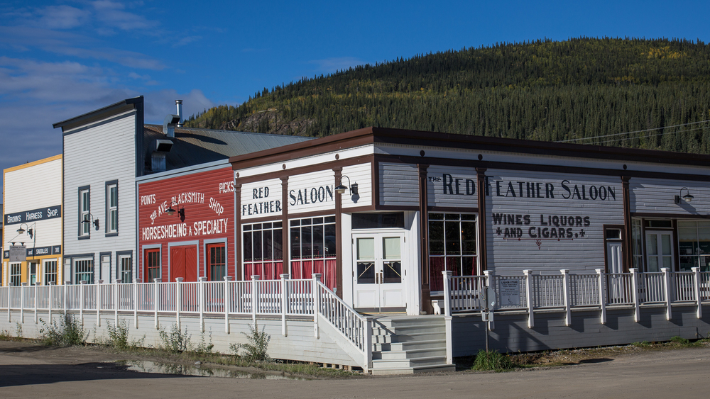 Some of the great facades on the buildings in Downtown Dawson City.