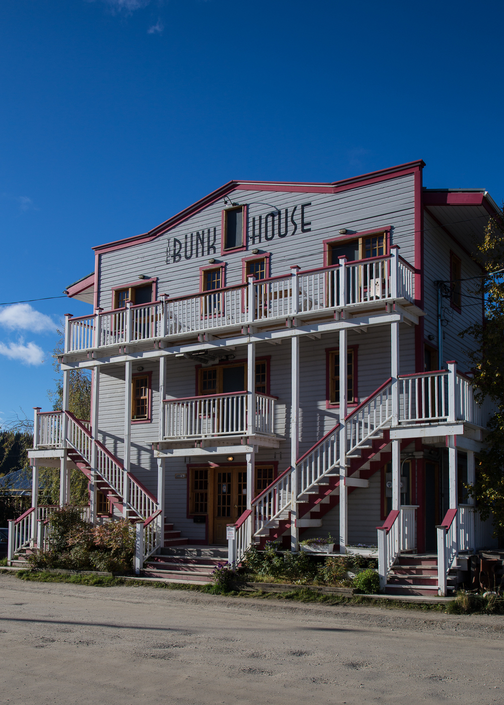 The Bunk House - one of the hotels in town.