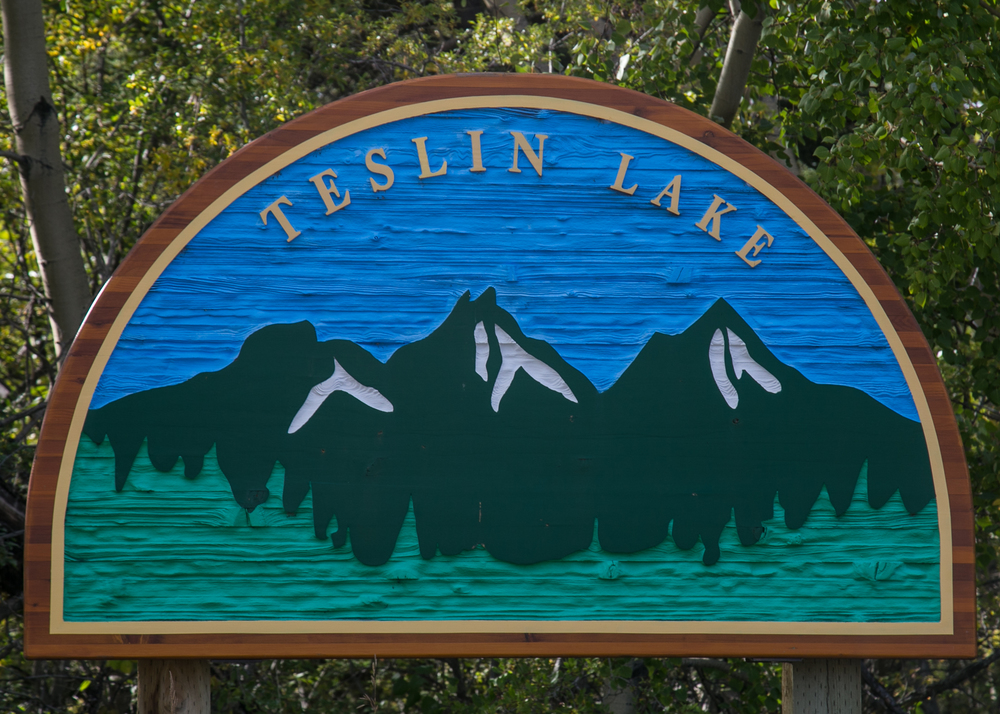 teslin lake sign