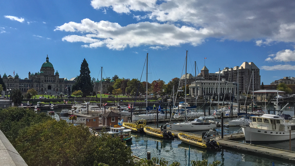 The beautiful Inner Harbour at Victoria.