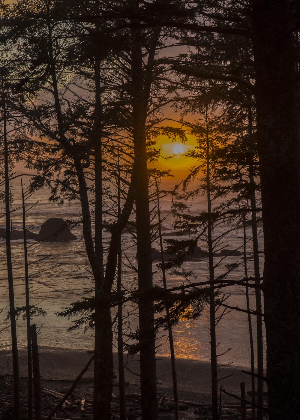 Sunset on Ruby Beach