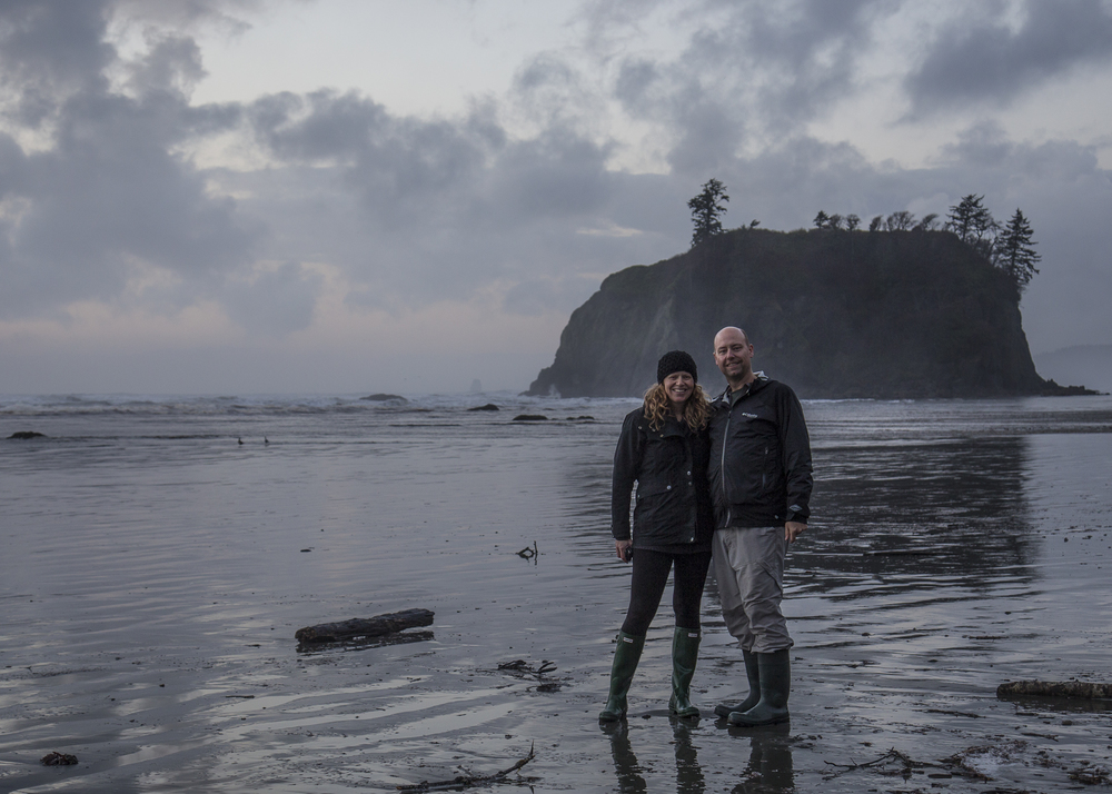 Justine and I on Ruby Beach.