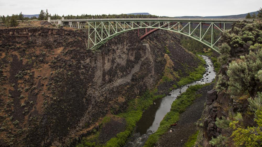 n old iron bridge, part of the original highway through the region.