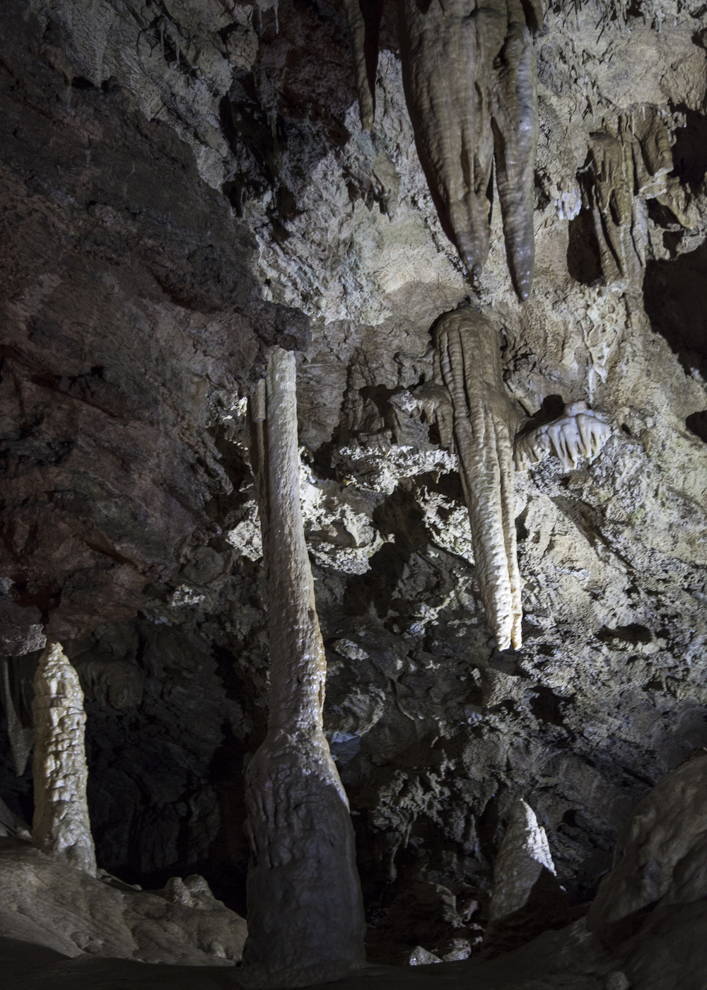 Stalactites, stalagmites, and ones that had joined to form complete columns.