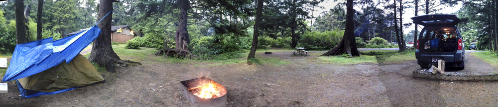 Pano of my campsite.