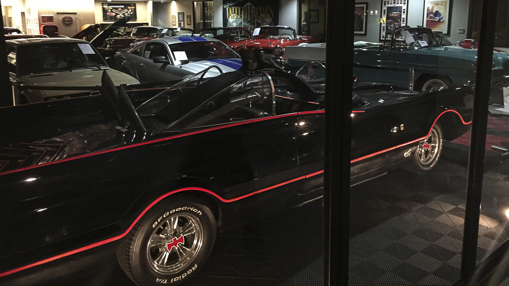 Near the hotel we discovered that Barrett Jackson had a showroom, and they had the original Batmobile on display!