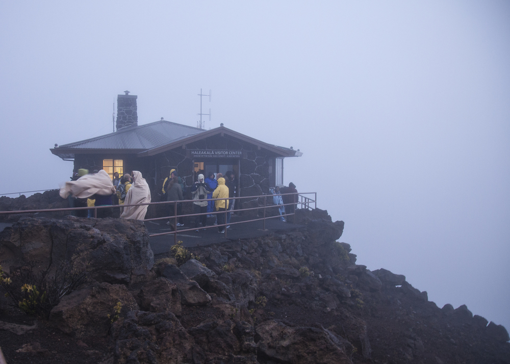 The visitor center at the summit of Haleakala.