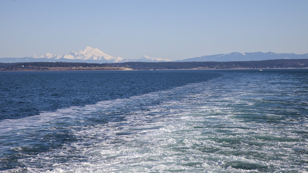 Heading across on the ferry to Port Townsend.
