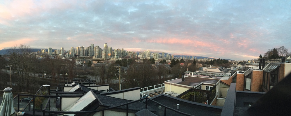 Sunset from the roof top