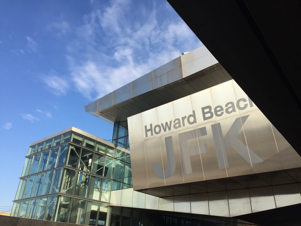 Howard beach Station, where we got on the A Train into the city.