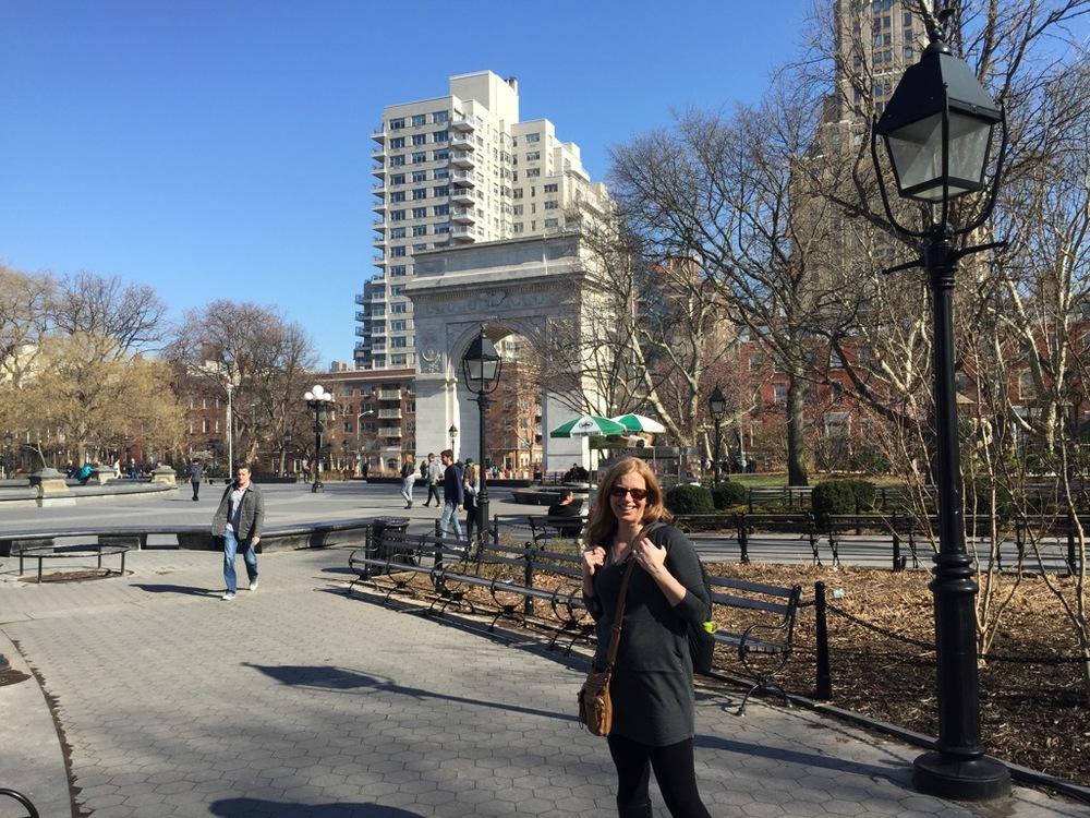 Justine in Washington Square Park