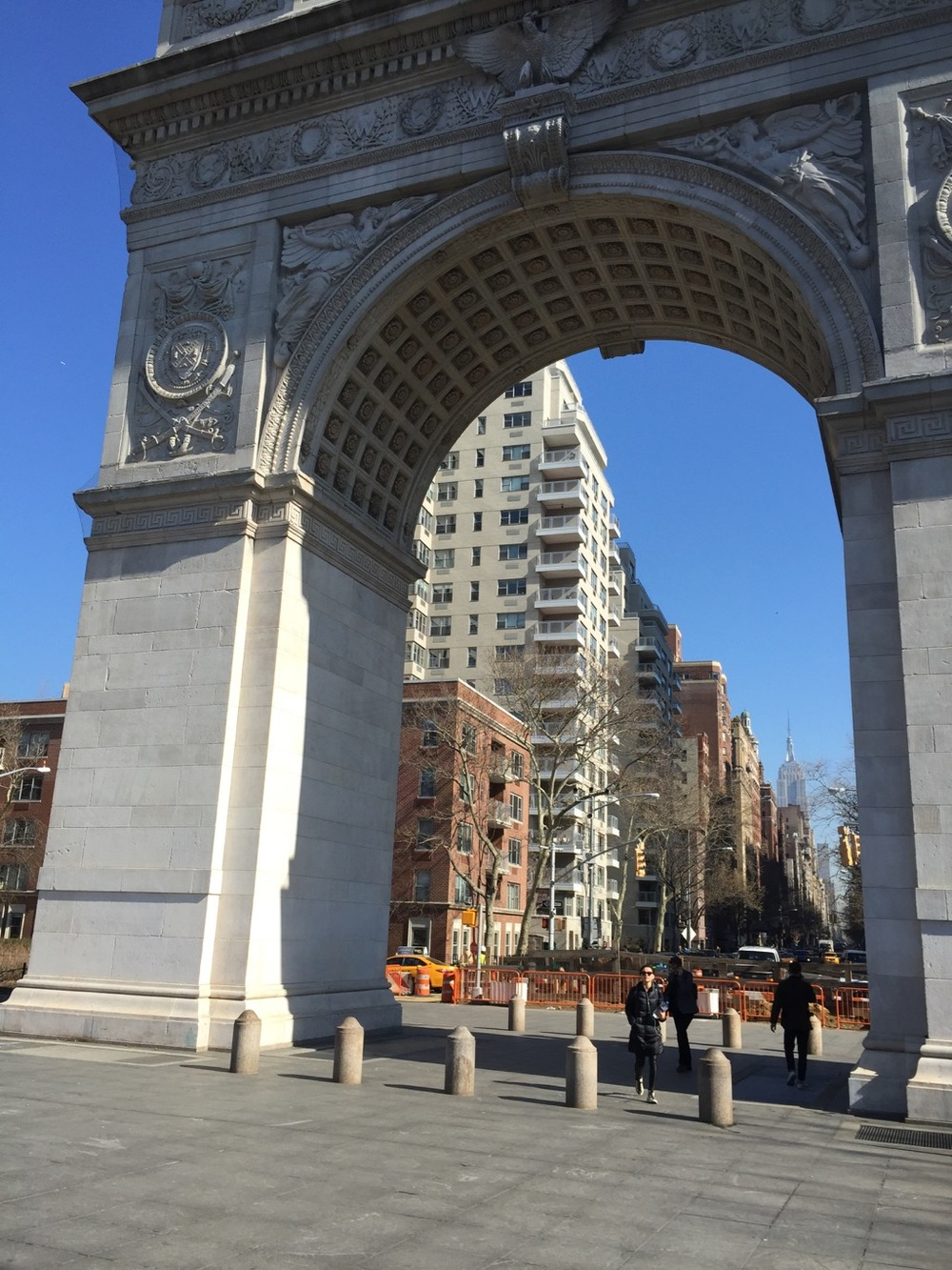 The arch in Washington Square Park.