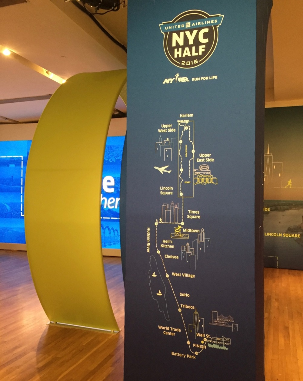 A map of the race course, in the Race Expo.