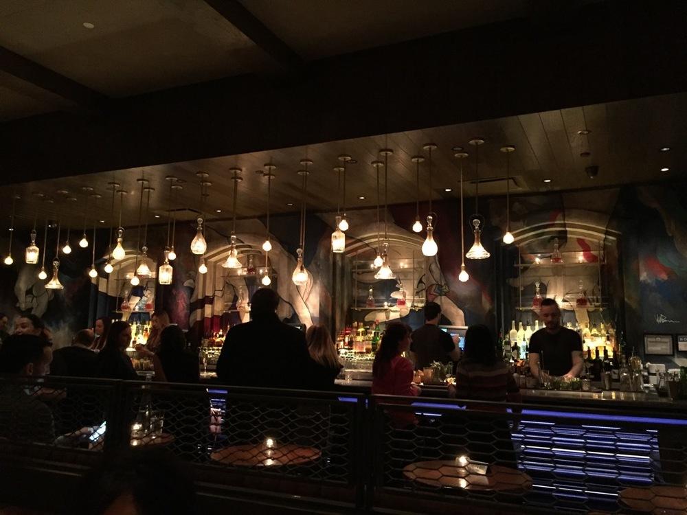 The bar inside Vandal
