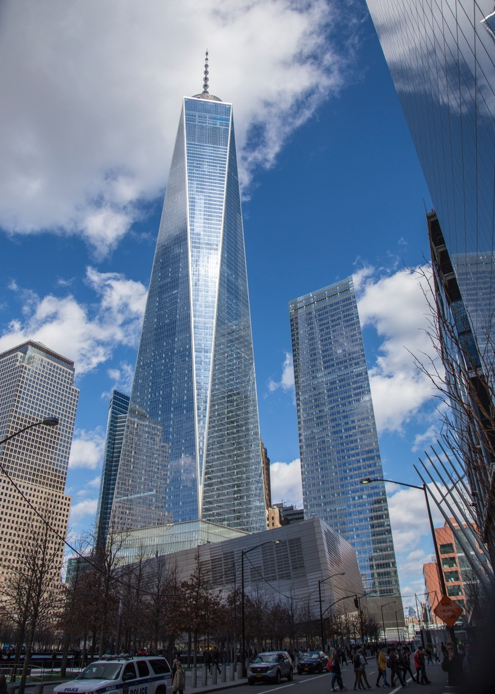 A view of the new World Trade Center