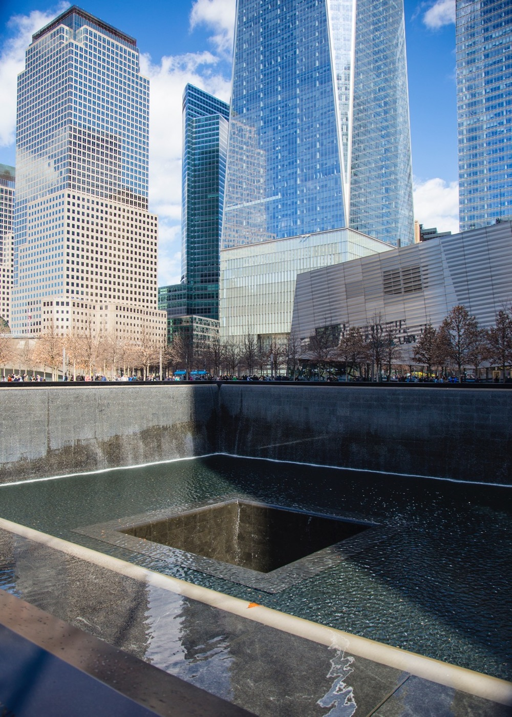 One of the two memorials to 9/11 and the original World Trade Centers.