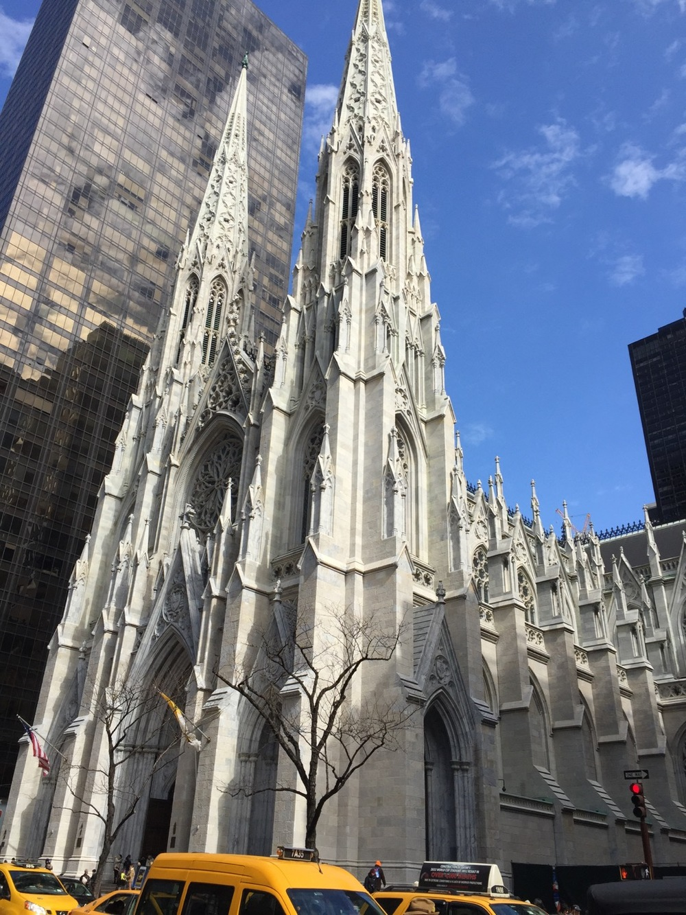 St. Patrick's Cathedral. It's been under renovation for the last few years - first time in forever that it hasn't been covered by tarps. It's beautiful now - all glowing and white.