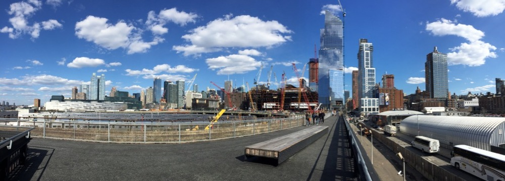 A pano on the High Line. The last piece they need to complete is under that huge new building.