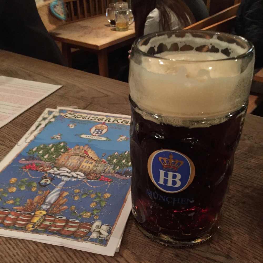 Beer and a menu. Now that's a proper glass of beer!