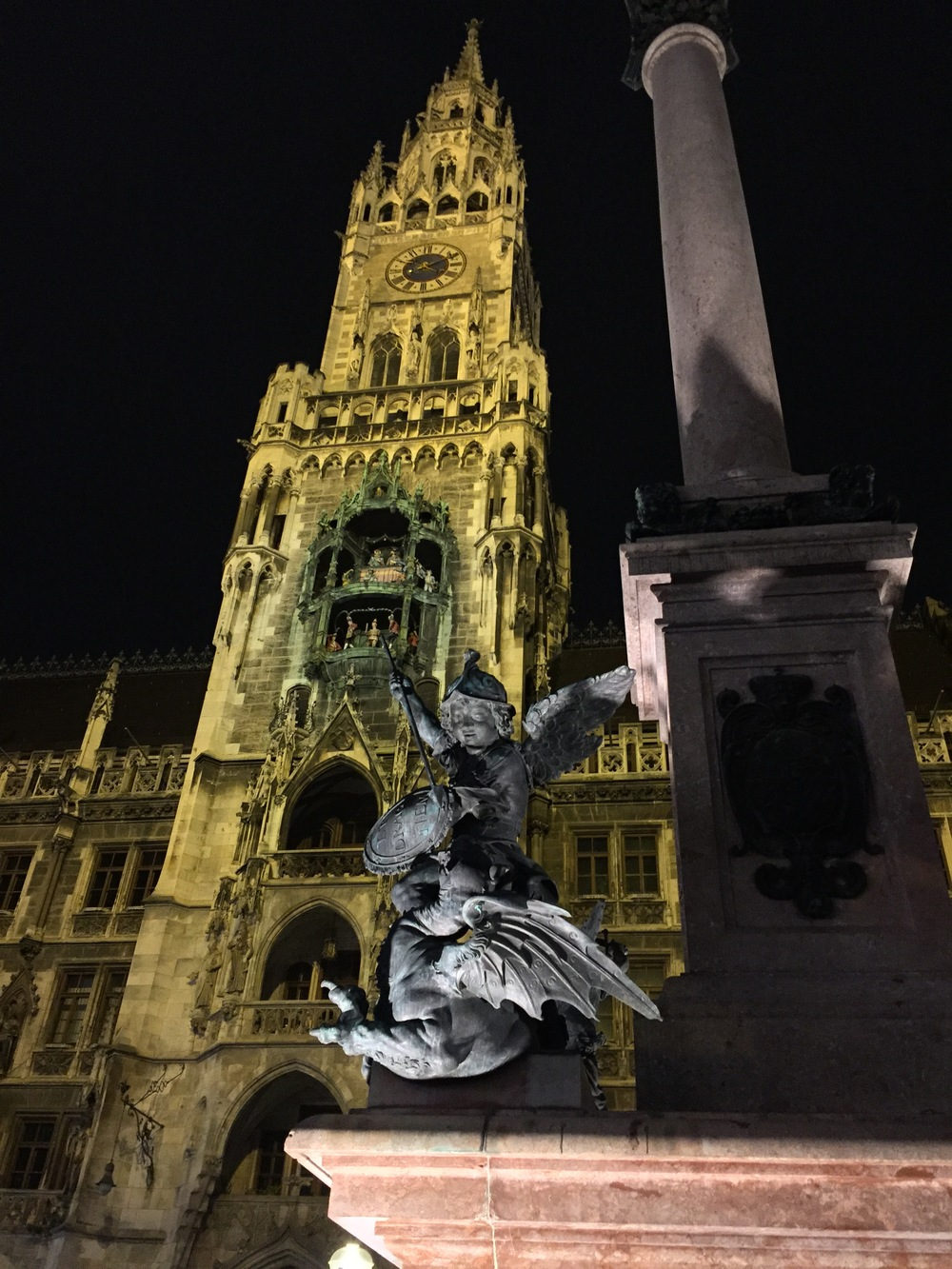 Marienplatz, on an evening stroll.