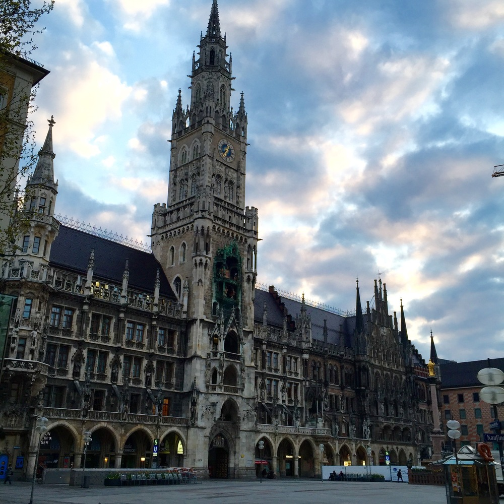 Marienplatz, during the day.