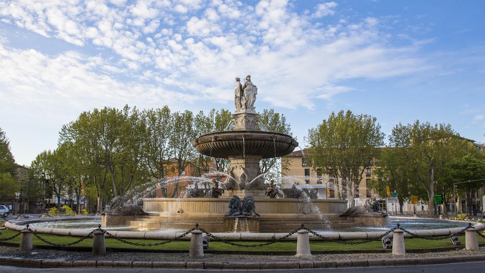 The Fontaine de la Rotonde, the heart of Aix-en-Provence