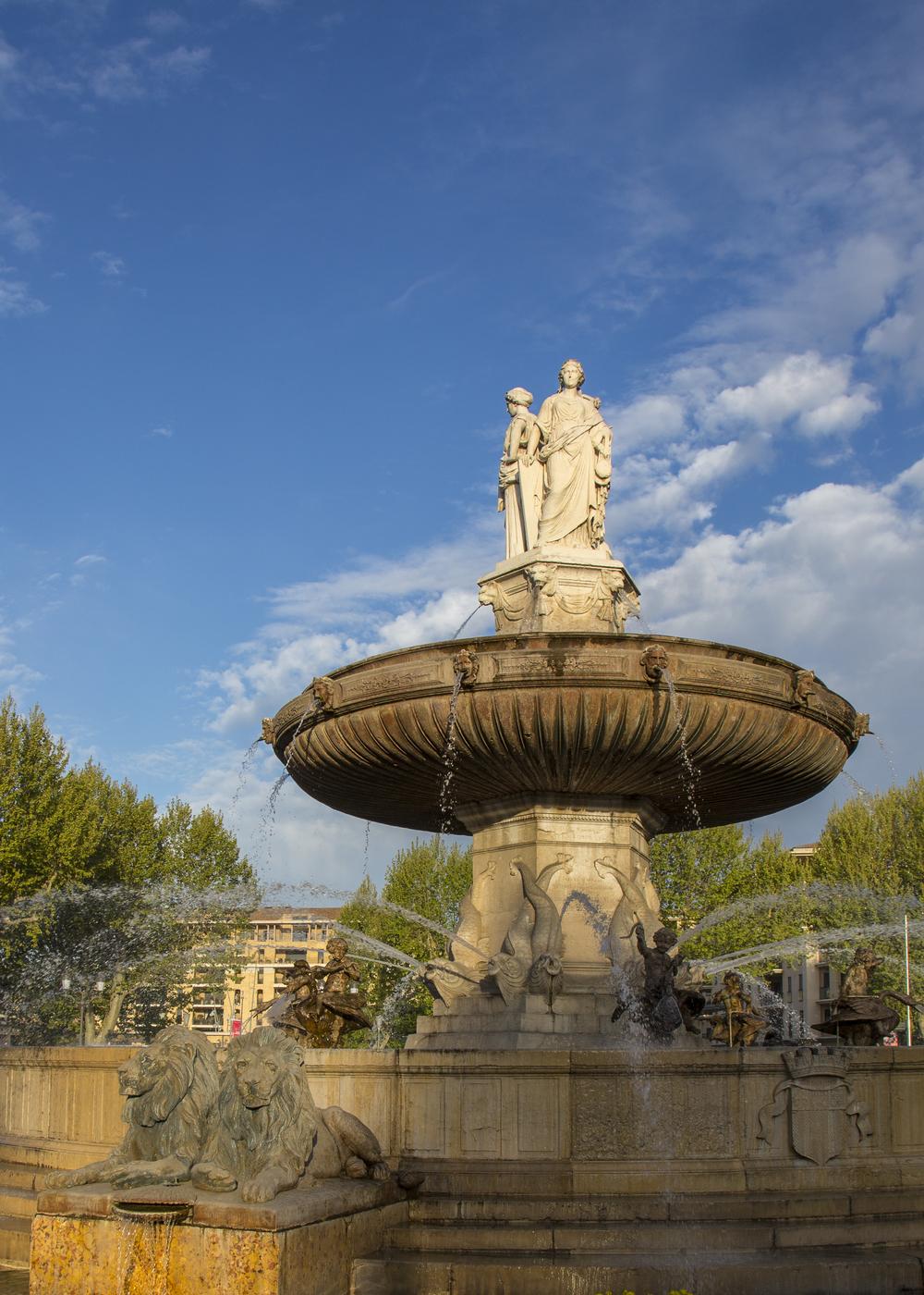 The main piece of the Fontaine de la Rotonde