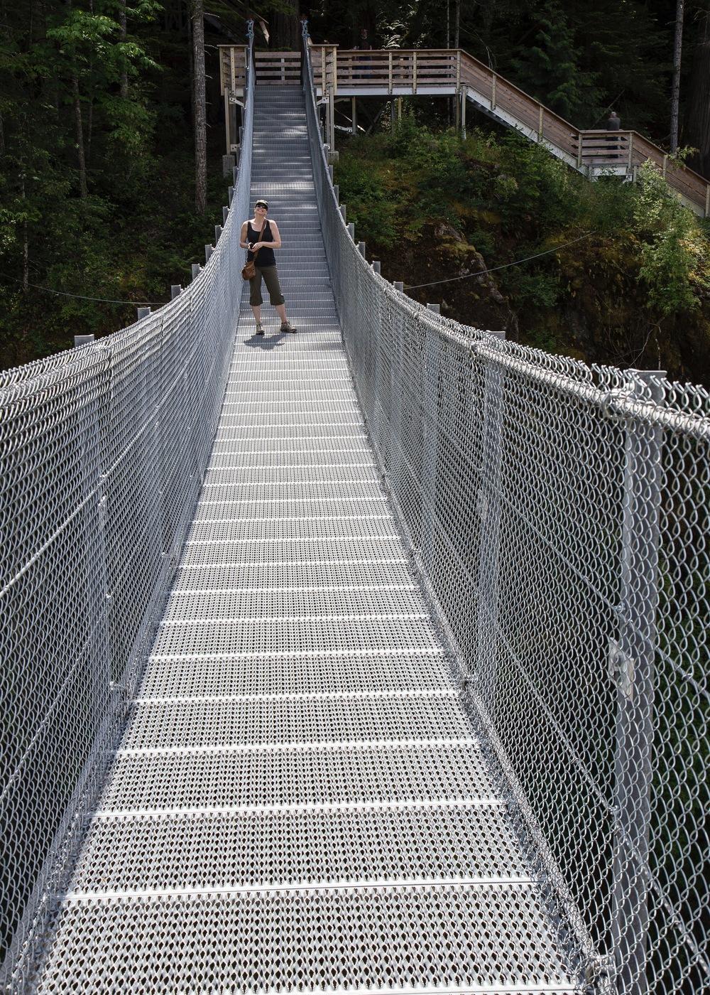 Justine on the bridge.