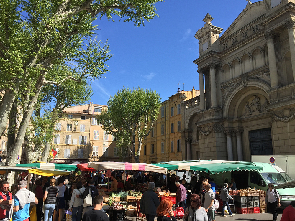 The market in Aix