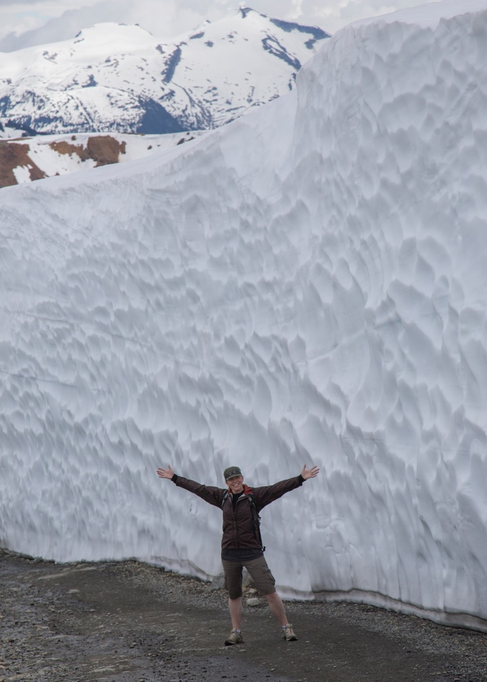 Then the snow walls got huge!
