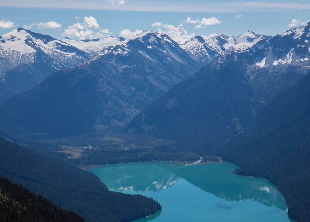 This week we got Cheakamus Lake in it's full, turquoise blue glory.