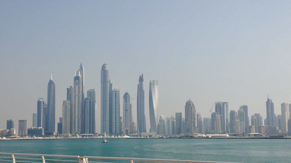 The Dubai Marina Skyline