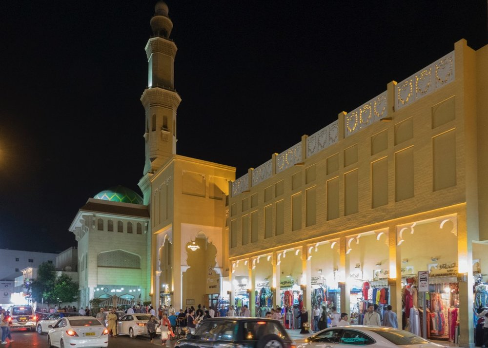 Craziness of old Dubai at night
