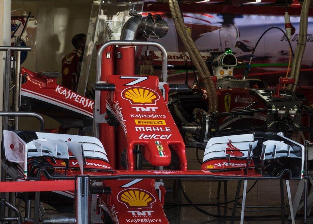 Ferrari garage.