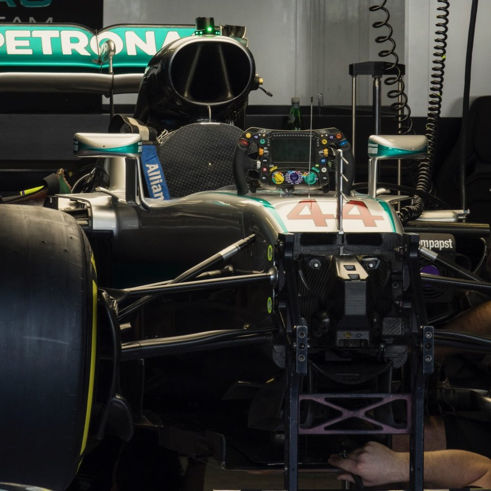 Lewis Hamilton's car - or most of it anyway.