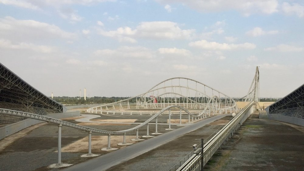 Formula Rossa starting point - you accelerate straight out to 240 km/h.