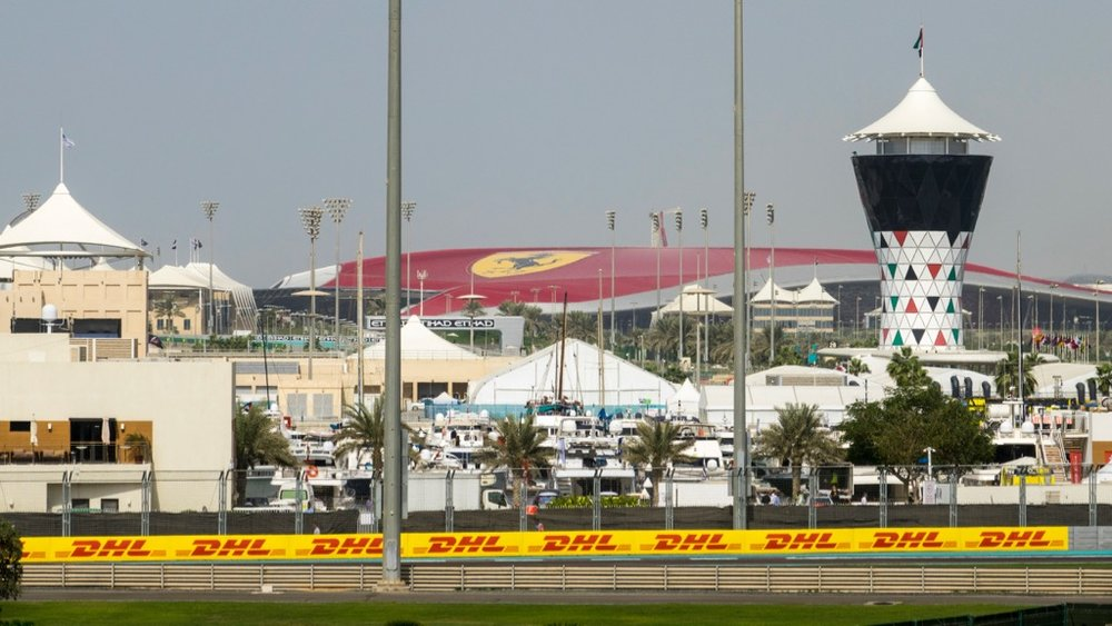 You could see Ferrari World, out in the distance.