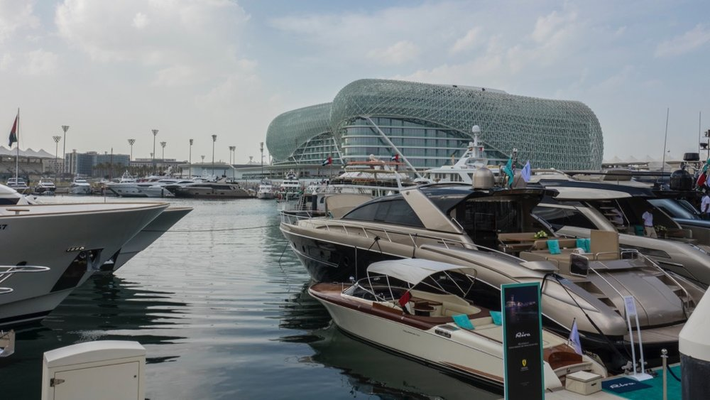 The Yas Viceroy Abu Dhabi Hotel, from the Yas Marina
