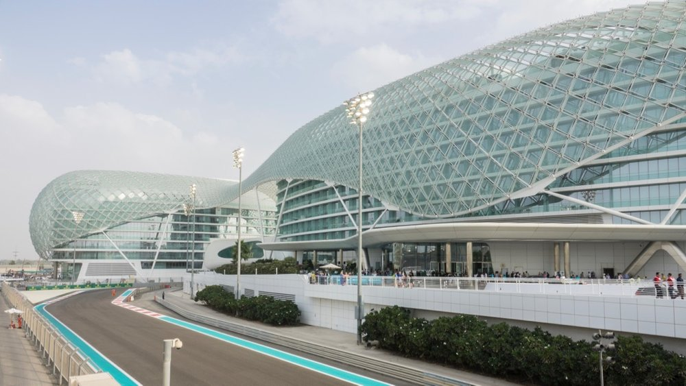 Another view of the Yas Viceroy Abu Dhabi Hotel